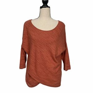 Anthropologie Moth Crochet Trimmed Sweater Size XS
